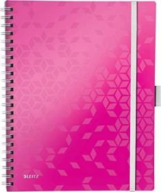 Leitz WOW Be Mobile Collegeblock mit PP-Einband pink A4 liniert, 80 Blatt (46440023)