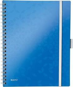 Leitz WOW Be Mobile Collegeblock mit PP-Einband blau A4 liniert, 80 Blatt (46440036)