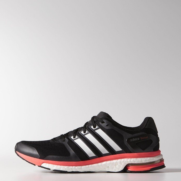nice shoes footwear sale adidas adistar Boost ESM core black/core white/solar red (Herren) (M18849)