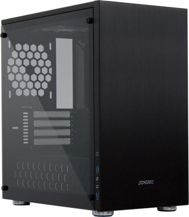 Jonsbo C3 Plus schwarz, Glasfenster (JB-C3+ K/600047010)