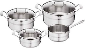 Tefal E891S7 Jamie Oliver Premium cooking pot set, 7-piece. Brushed