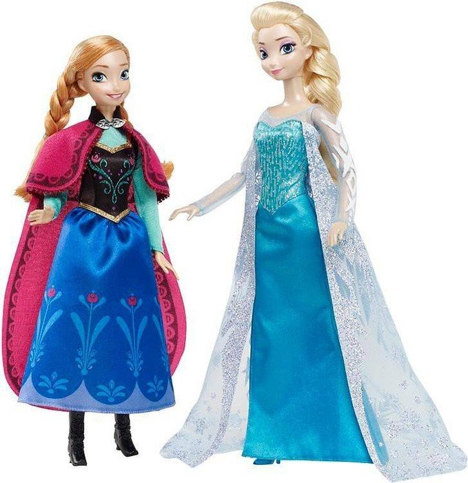 mattel barbie disney princess die eisk nigin klassik kollektion anna und elsa ab 99 99 de. Black Bedroom Furniture Sets. Home Design Ideas