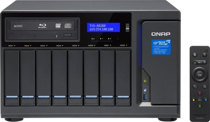 QNAP TVS-882BRT3-ODD-I5-16G 14TB, 16GB RAM, Blu-Ray, 4x Thunderbolt 3, 4x Gb LAN