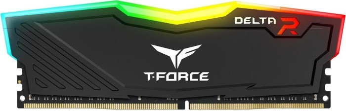 TeamGroup T-Force Delta RGB schwarz DIMM 4GB, DDR4-2400, CL17-17-17-35 (TF3D44G2400HC15B01)