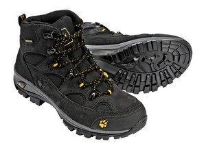 pretty nice 3da3b d1e3f Jack Wolfskin Vojo Hike Mid Texapore 4011361 Herren Wanderschuhe, schwarz  (burly yellow 3800), 42
