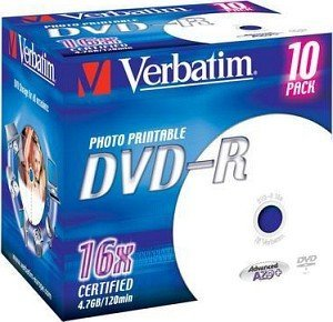 Verbatim DVD-R 4.7GB 16x, 100-pack Jewelcase printable
