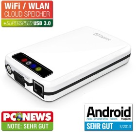Fantec MWiD25 Mobile Wi-Fi Disk white 640GB, USB 3.0/WLAN (16484)