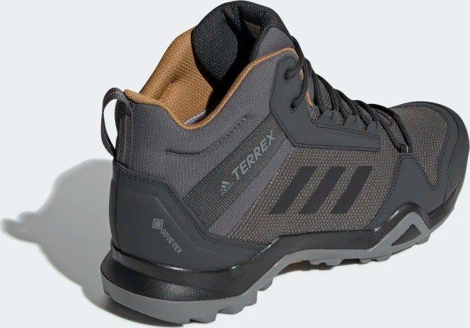 adidas Terrex AX3 Mid GTX Wanderschuhe Grey Five Core Black Mesa | 7 (UK)