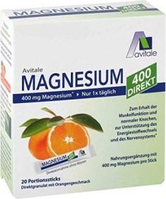 Avitale Magnesium 400 Direkt Pulver Portionsbeutel, 20 Stück