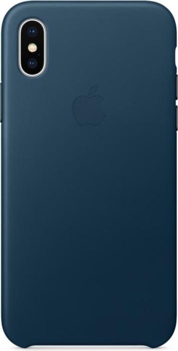 Apple Leder Case für iPhone X kosmosblau (MQTH2ZM/A)