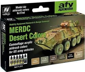 """Vallejo Model Air """"MERDC Desert Colors"""" Farbset, 6-tlg. (71.212)"""