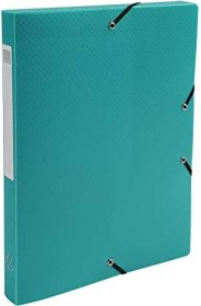 Exacompta Archivbox aus Kunststoff A4, blickdicht, 25mm, dunkelgrün, 4er-Pack (59603E)