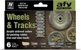 """Vallejo Model Air """"Wheels & Tracks"""" Farbset, 6-tlg. (71.213)"""