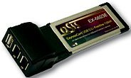 Exsys EX-6603E, 1x USB 2.0/2x FireWire, ExpressCard/34