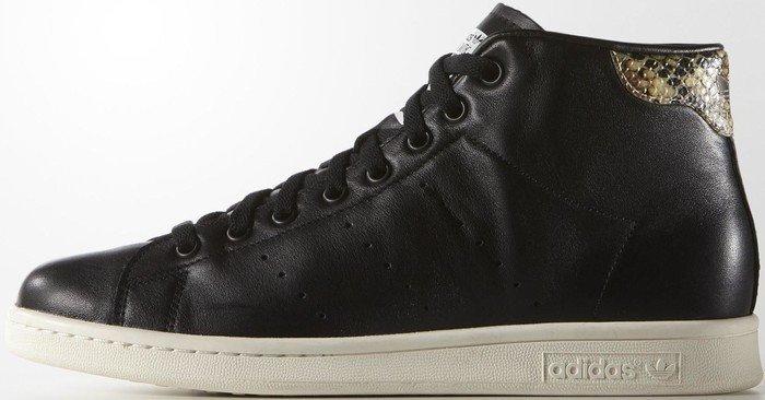 new style 70a7c d6082 adidas Stan Smith mid core black/chalk white (men) (S77452 ...