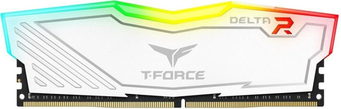 TeamGroup T-Force Delta RGB weiß DIMM 8GB, DDR4-2400, CL17-17-17-35 (TF4D48G2400HC15B01)