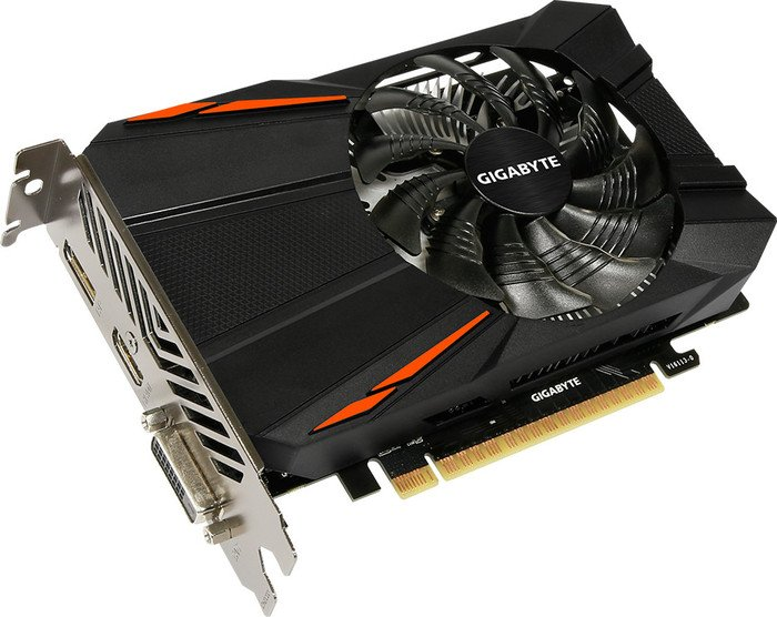 Gigabyte GeForce GTX 1050 D5 3G, 3GB GDDR5, DVI, HDMI, DP (GV-N1050D5-3GD)