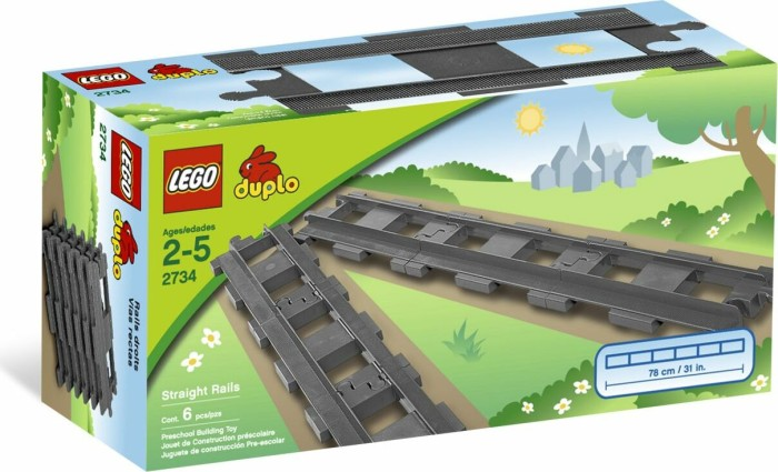 LEGO - DUPLO Train - 6 Straight Rails (2734) -- via Amazon Partnerprogramm