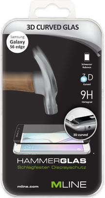 MLine 3D Curved Hammerglas für Samsung Galaxy S6 Edge (HDISSAMGAL3DS6EDGEH)