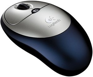 Logitech Cordless click! Optical Mouse, PS/2 & USB (931172-0914)