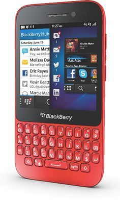 BlackBerry Q5 rot -- The RIM and BlackBerry families of related marks, images and symbols are the exclusive properties of, and trademarks of, Research In Motion - used by permission