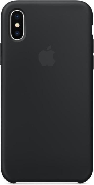 Apple Silikon Case für iPhone X schwarz (MQT12ZM/A)