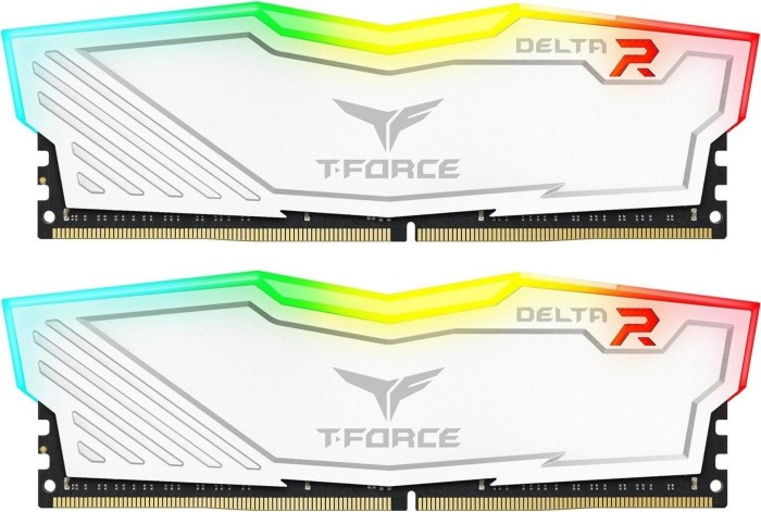 TeamGroup T-Force Delta RGB weiß DIMM Kit 16GB, DDR4-2400, CL15-17-17-35 (TF4D416G2400HC15BDC01)
