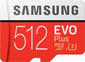 Samsung R100/W90 microSDXC EVO Plus 2017 512GB kit, UHS-I U3, Class 10 (MB-MC512GA/EU)