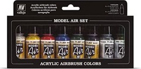"Vallejo Model Air ""Basic Colors"" Farbset, 8-tlg. (71.174)"