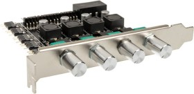 Lamptron CP436 ARGB silber, PCI-Slotblende Licht- und Lüftersteuerung 4-Kanal (LAMP-CP436AS)
