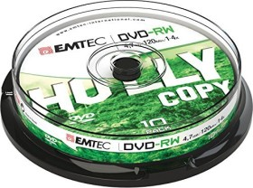 Emtec DVD-RW 4.7GB 4x, 10-pack Spindle (ECOVPRW47104CB)