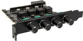Lamptron CP436 ARGB schwarz, PCI-Slotblende Licht- und Lüftersteuerung 4-Kanal (LAMP-CP436AB)