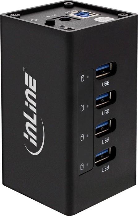 InLine USB-Hub, 4x USB-A 3.0, USB-B 3.0 [Buchse] (35395A)