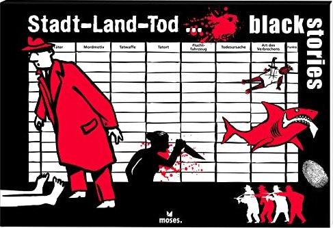 Moses Verlag 90021 NEU&OVP Spiel Black Stories Stadt Land Tod
