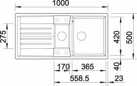 Blanco Lexa 6 S InFino mit Ablauffernbedienung schwarz (525903)
