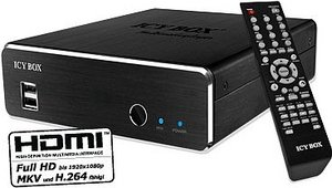 "RaidSonic Icy Box IB-MP309HW-B, 3.5"", USB 2.0/LAN (25333)"