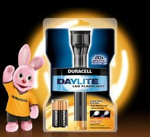 Duracell 2-AA Daylite LED torch