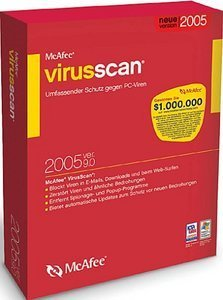network Associates: McAfee VirusScan 9.0 / 2005 Update (German) (PC) (VSF90G001RDA)
