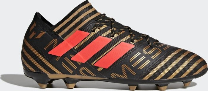 adidas Nemeziz Messi 17.2 FG core black solar red tactile gold metallic (men fad6c2058