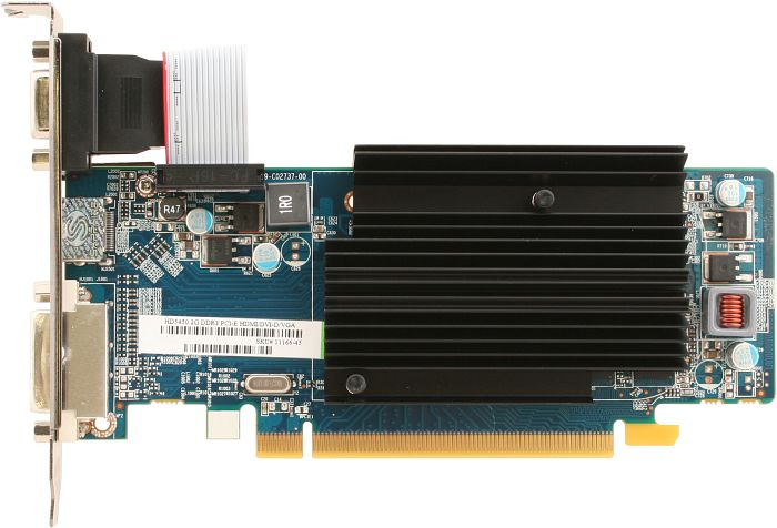 Sapphire Radeon HD 5450, 2GB DDR3, VGA, DVI, HDMI, lite retail, low profile (11166-45-20G)
