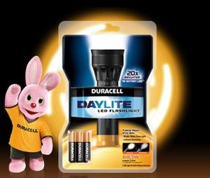 Duracell 3-AAA Daylite LED torch