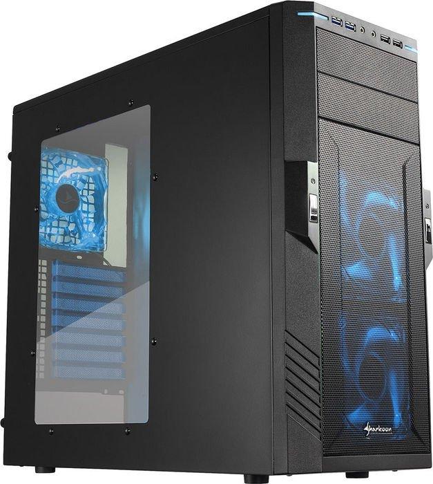 Sharkoon T28 blue, acrylic window