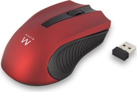 Ewent Wireless Mouse 1000dpi rot, USB (EW3227)