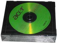 Acer CD-R 80min/700MB, 10-pack (various colours)