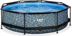 Exit Toys Stone Pool mit Filterpumpe 300x76cm (30.12.10.00)