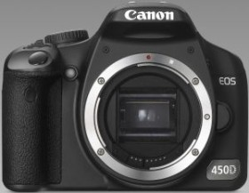 Canon EOS 450D schwarz Gehäuse (2785B001/2758B010)