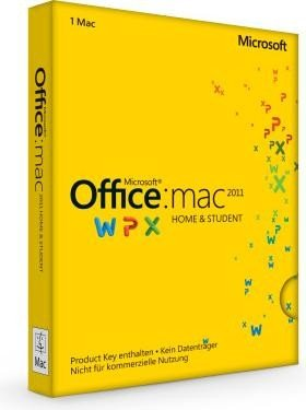 Microsoft: Office 2011 Home and Student, 1 User CAL (English) (MAC) (GZA-00202)