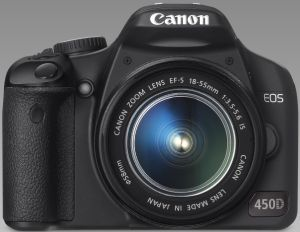 Canon EOS 450D with lens EF-S 18-55mm 3.5-5.6 IS (2758B015)