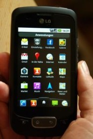 LG Optimus One P500 schwarz chrom