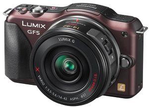 Panasonic Lumix DMC-GF5 braun mit Objektiv Lumix G X Vario PZ 14-42mm 3.5-5.6 OIS (DMC-GF5X)